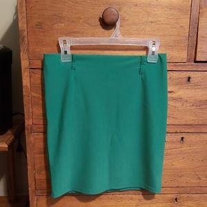 3/$35  Green Skirt. Beautiful. Say LG fits Medium